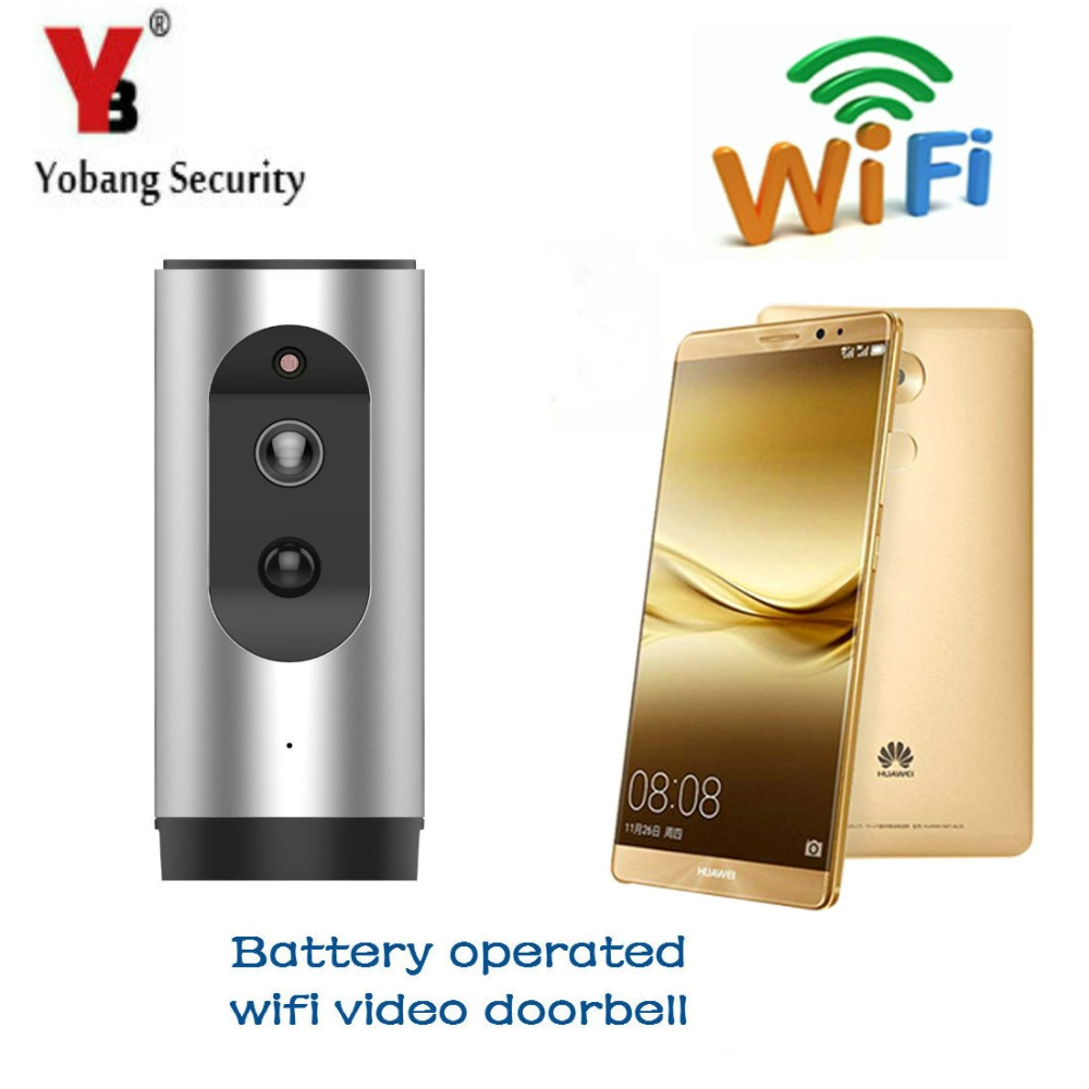 YobangSecurity Battery Wifi Video Door Phone Doorbell Wireless Video Door Intercom Doorbell With Battery Powered APP Android IOS 2016 new wifi doorbell video door phone support 3g 4g ios android for ipad smart phone tablet control wireless door intercom