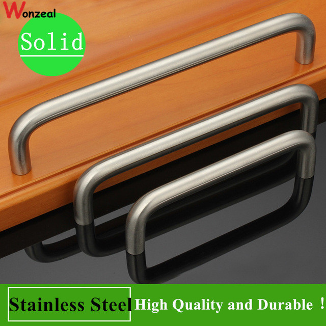 Hole Pitch 64mm/96mm/128mm/160mm/192mm stainless steel handle Kitchen Furniture pulls wardrobe handle drawer handle dia 10mm stainlees steel 304 t style hole pitch 64mm 96mm 128mm 160mm 192mm furniture handle drawer handle cabinet knobs