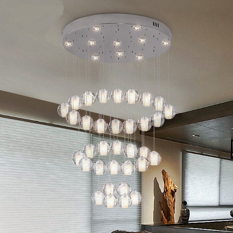 A1 Crystal glass ball modern pendant lights living room bedroom dining room lamps and lanterns personalized dining ZL274 LU1023 luxurious crystal pendant lamp the european style living room lamps and lanterns creative bedroom crystal chandelier
