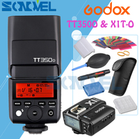 Godox Mini Speedlite TT350O + X1T O Transmitter TTL HSS GN36 Camera Flash for Olympus/Panasonic Micro 4/3 M4/3 Cameras with Gift