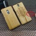 Para oneplus one bambu novo caso de substituição do telefone tampa traseira da pele de bambu durável para um mais um