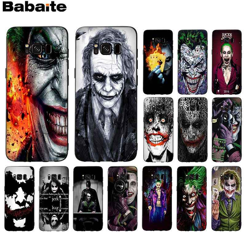 Babaite poker joker Populaire Ontwerp Case cover Shell Voor Samsung GALAXY s5 s6 rand rand plus s7 edge s8 plus s9
