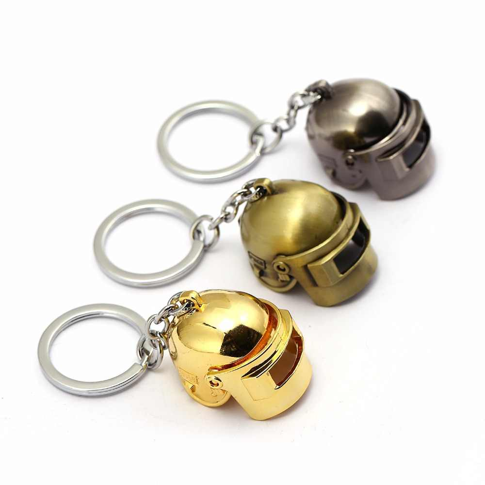 PUBG Keychain Special Corps Level 3 Helmet Cool Playerunknown's  Battlegrounds Can Open 3D Chaveiro Men