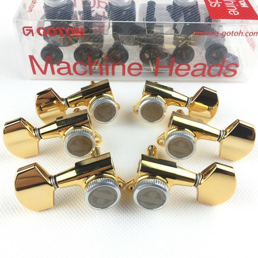 Original GOTOH SG381 01 MGT Electric Guitar Locking Machine Heads Tuners ( Chrome Black Gold Silver ) Tuning Peg MADE IN JAPAN