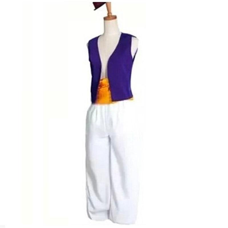 A La Ding Magic Lamp Prince Costumes Purple Vest White Pants Classic Prom Dress Up XXS-XXXL