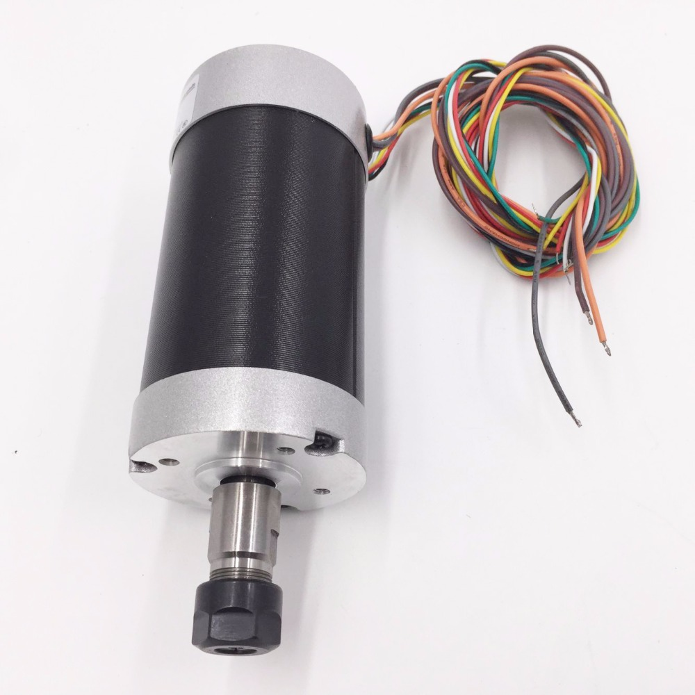 CNC DC Spindle Motor 500W 24V 0.629NM Air Cooling ER11 Brushless for DIY PCB Drilling New 1 Year Warranty Free Technical Support new ebmpapst fan m2d068 cf for siemens spindle motor 1ph713 series original new 1 year warranty