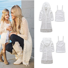 2019 new mother and daughter dress in spring summer classic cuddle cap jacket small sling