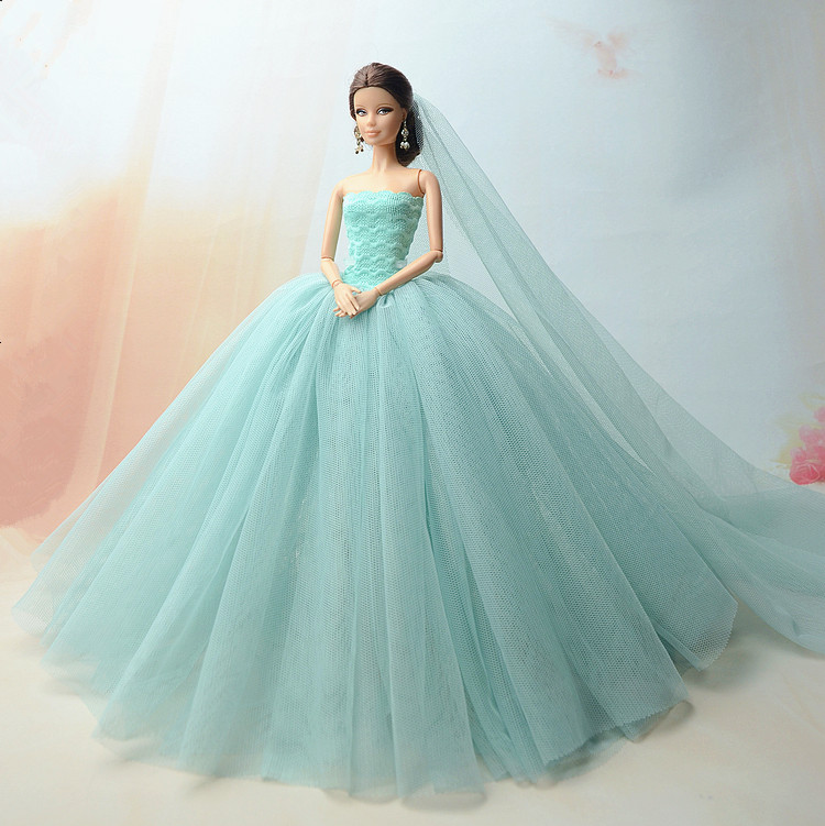 Handmade Princess Wedding Party Clothes Bridal Outfit Gown Dress For 12 in Doll