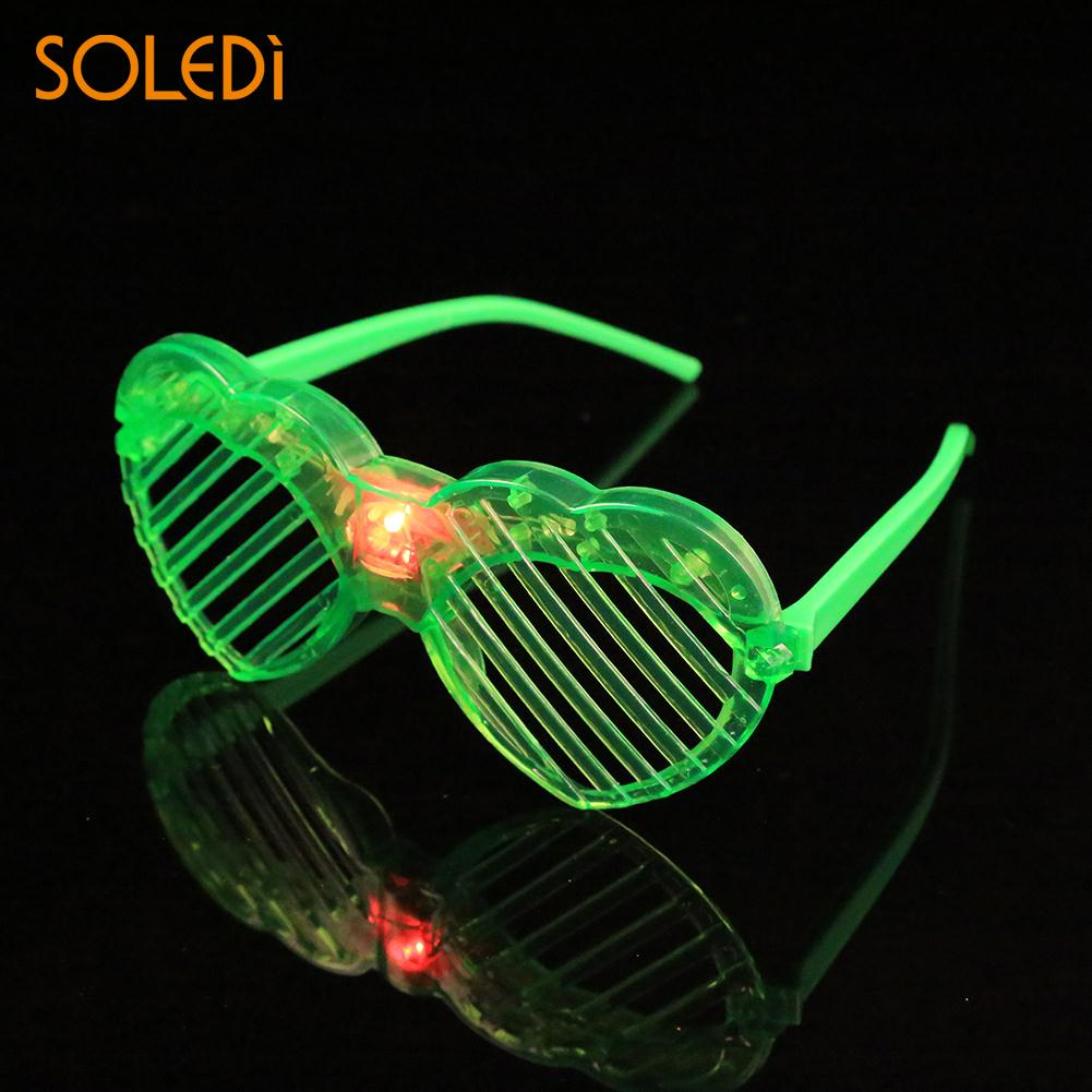 Glow Party Supplies Fine Led Glasses Light Up Flash Light Up Flash Disco Mask Party Heart Glasses Event & Party
