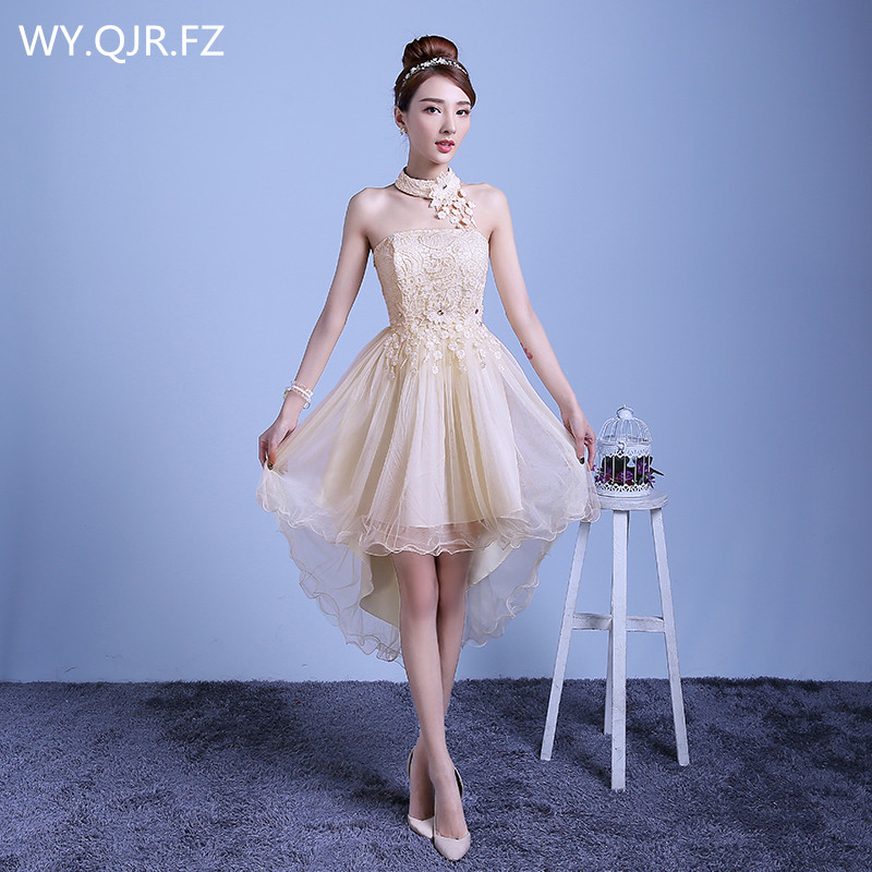 ZX-D48XB#2019 New Summer Short Long Before After Shortparagraph A Bride Bridesmaid Dresses Wedding Dress Female Toast Champagne