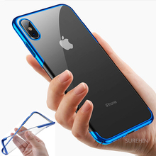 SUREHIN Nice luxury case for iPhone XR XS MAS X 7 8 6S 6 PLUS cover shockproof transparent soft clear silicone 6.5/1/5.8/5