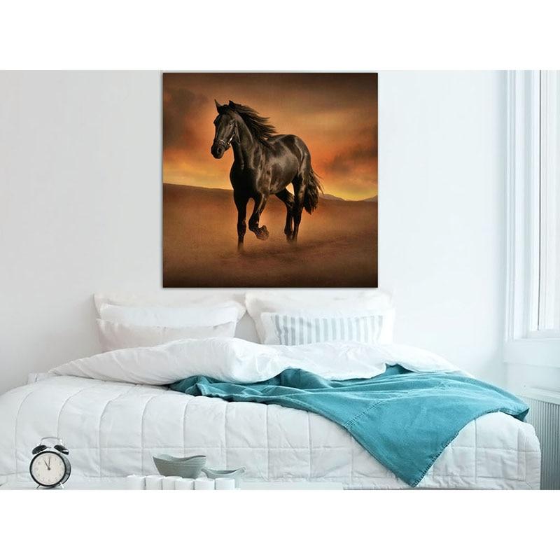 5D DIY diamond painting animal desert running horse full drill square round diamond embroidery cross stitch rhinesto mosaic in Diamond Painting Cross Stitch from Home Garden