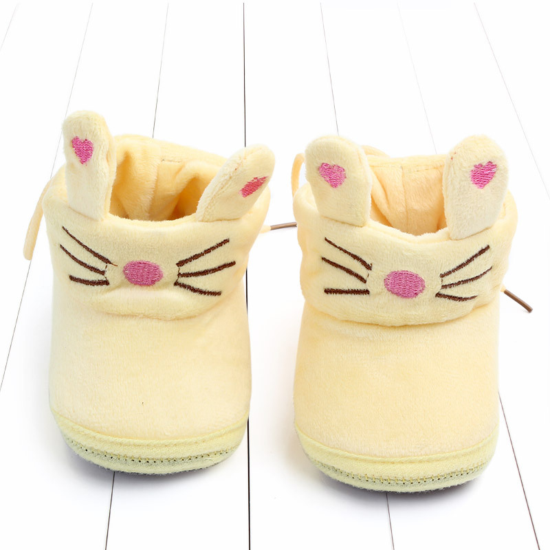 Indoor First Walkers Baby Shoes Cotton Anti-slip Booties Winter Wammer Baby Girl Boy Shoes Newborn Slippers Footwear Booties (26)