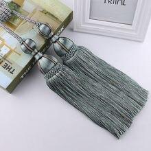 rope curtain tiebacks ball beaded tassel tiebacks curtain bedroom supplies household curtain tieback door hanger 1