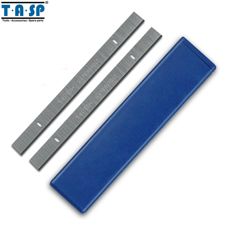 """TASP 8"""" 210mm HSS Thickness Planer Blades 210x16.5x1.5mm Wood Planer Knife for Einhell Erbauer Woodworking Power Tool Parts-in Woodworking Machinery Parts from Tools"""