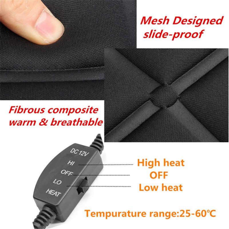 ساخن! 12 فولت 25-60 درجة درجة الحرارة قابل للتعديل مقاعد الشتاء ساخنة وسادة حالة السيارات غطاء مقعد السيارة ساخنة مع التدفئة العالمي