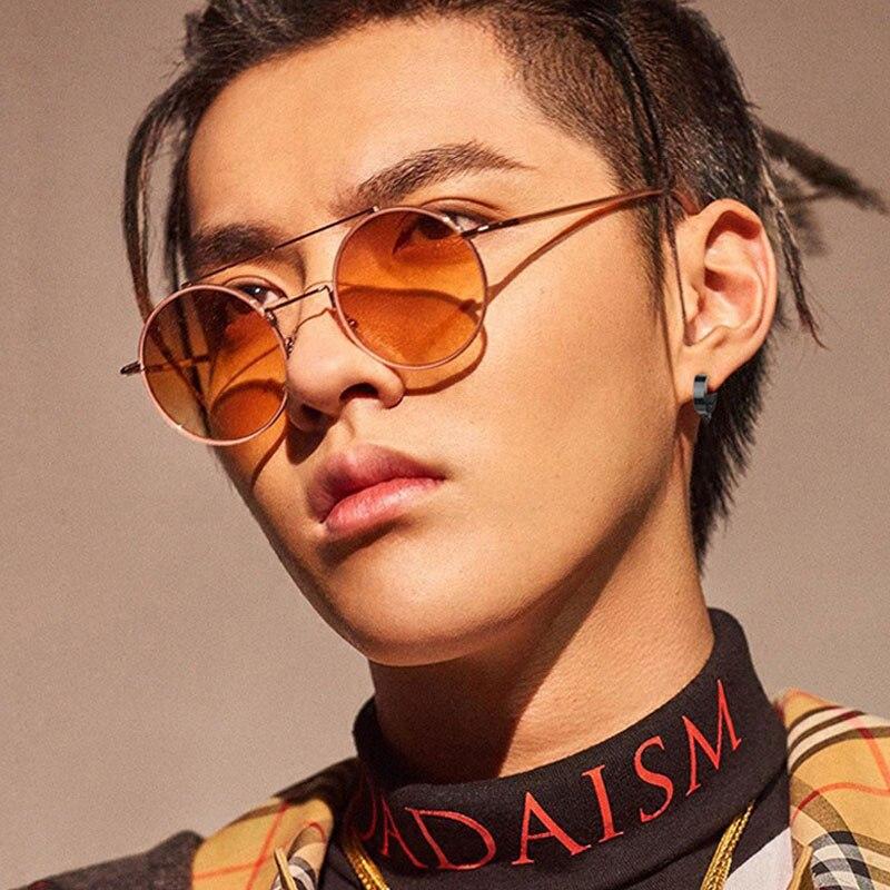 New Korean version of Harajuku large frame sunglasses retro metal transparent ocean Lens Sunglasses round frame sunglasses in Women 39 s Sunglasses from Apparel Accessories