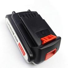 3pcs 20V 2000mAh Li-ion Rechargeable Battery Power Tool Replacement Battery for BLACK & DECKER LB20 LBX20 LBXR20 free shipping
