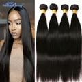 Straight Brazilian Virgin Hair 4 Bundles 7A Brazilian Virgin Human Hair Straight High Quality Brazilian Straight Hair Weave