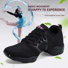 2018 zapatos de baile para chica deportes suela suave respiración mujer  práctica zapatos modernos Jazz danza zapatos plataforma . 792138fbb61