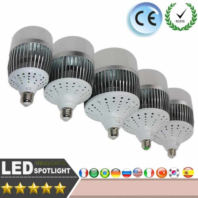 E27 E40 50W 70W 100W 120W 180W High brightness Led Bulbs AC175-265V Base Light Bulb SMD 3535 Aluminium Plate Ampolletas Led Lamp