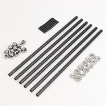 Один набор диагональный толкатель L200 штанги комплект+ Магнитный шаровой шарнир+ стальной шар для kossel 3d принтер части аксессуары