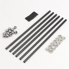 2018 One Set Diagonal push Rod L200 Rods Arms Kit + Magnetic Ball Joint + Steel Ball for kossel 3D Printer Parts Accessories(China)