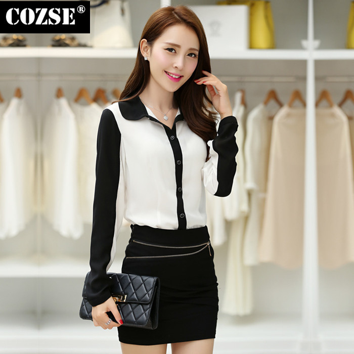2015 New Summer Casual Korean Women Clothing Ladies Formal Lace Full Chiffon Blouses Hot Sale