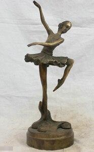 Chinese China Folk Culture Handmade Old Bronze Brass Statue Ballerina Sculpture R0713|sculpture ballerina|sculpture statue|sculpture bronze -