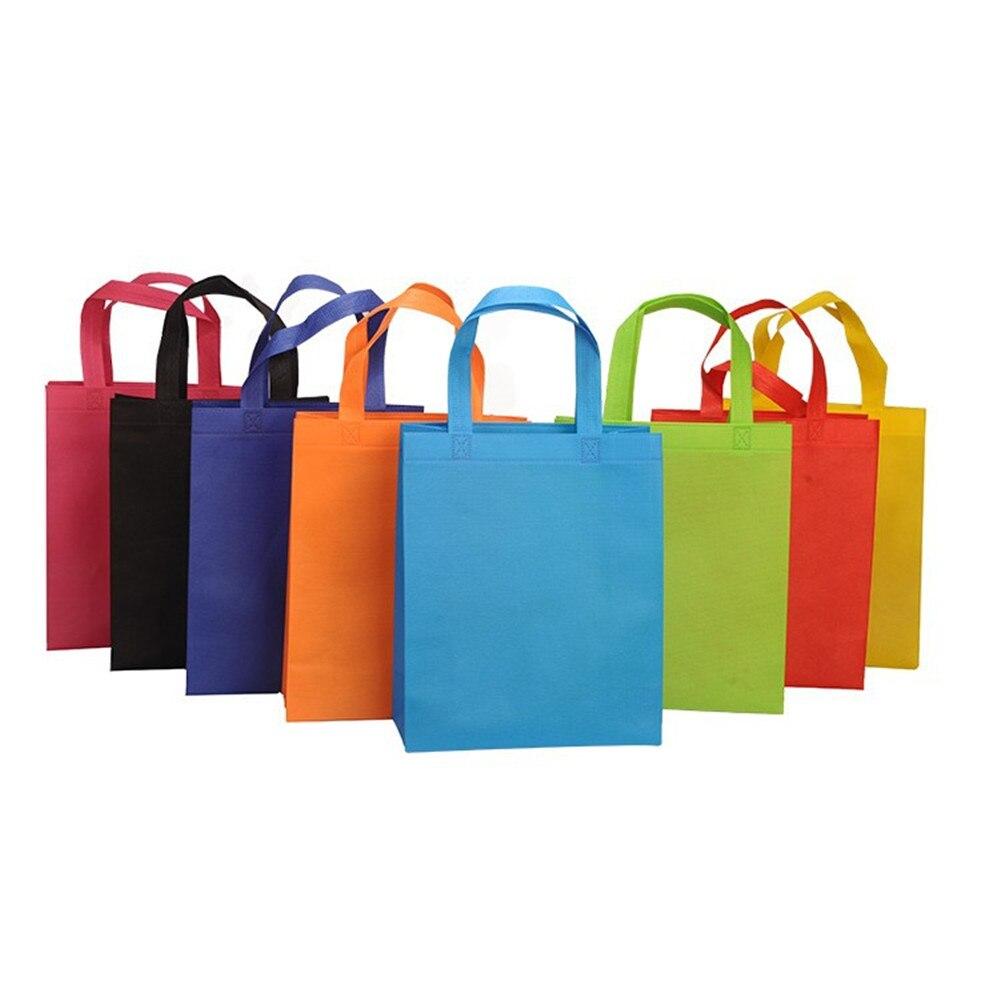 1PCS Women Foldable Shopping Bag Reusable Handbag Eco Large Unisex Fabric Non-woven Shoulder Bags Tote Grocery Cloth Bags Pouch