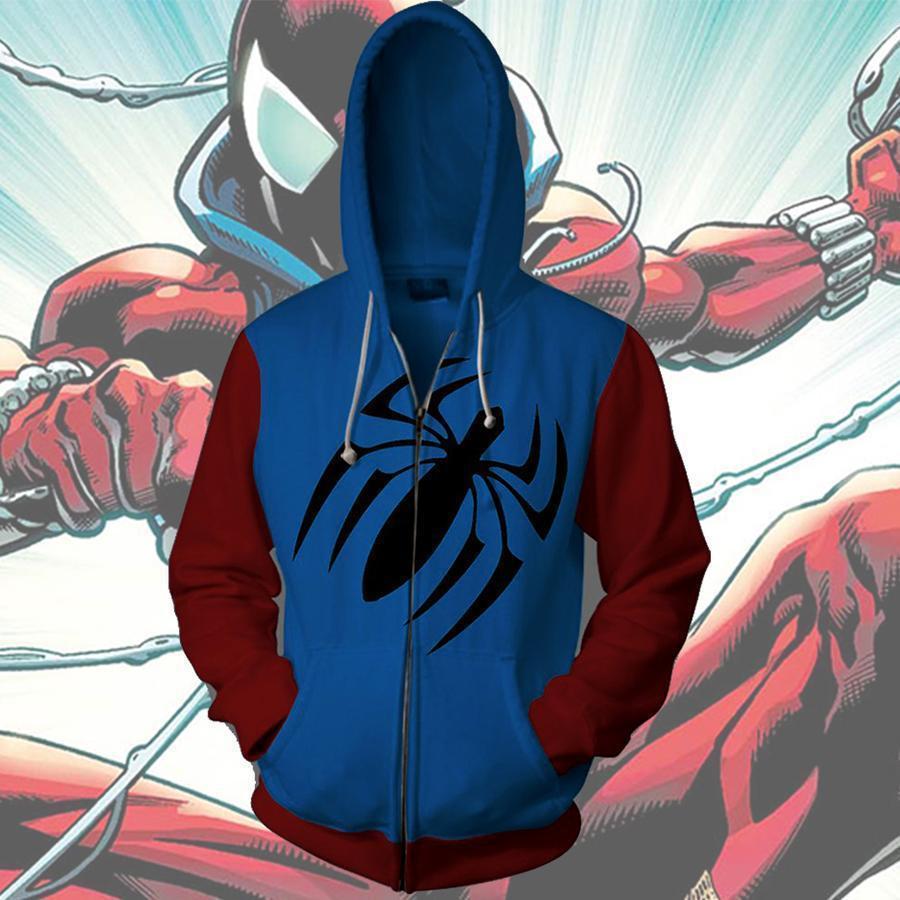 CostumeBuy Venom Spiderman Cosplay Costumes Spider-Man 3D Printed Zipper Hoodies Sweatshirts Jackets For Women Men S-5XL