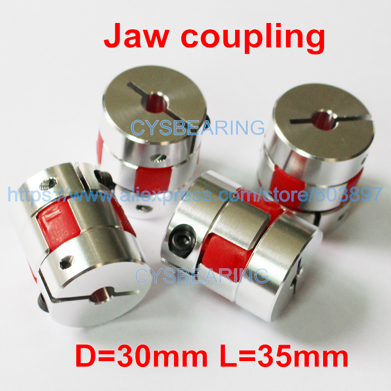 20mm 10mm Coupling Length 25mm Coupling Outer Diameter VXB Brand D20-L25 7mm to 10mm Jaw Type Flexible Coupling Coupling Bore 2 Diameter