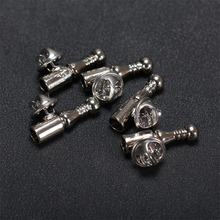 Base de broche en plumes argentées, épingles à revers en métal, pour femmes et hommes, accessoires de bijouterie, épingle courte, bijoux à bricoler soi même