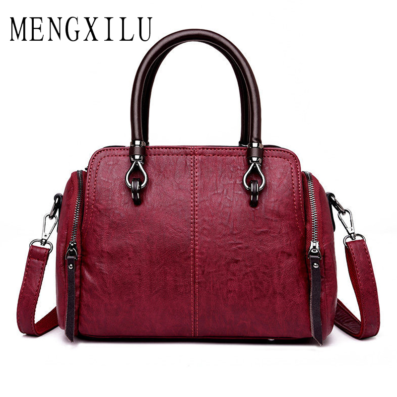 Women Genuine Leather Handbags Women Messenger Bag Designer Crossbody Bags For Ladies 2018 Bolsa Feminina Tote Shoulder Bags Sac female messenger bags feminina bolsa leather old handbags women bags designer ladies shoulder bag