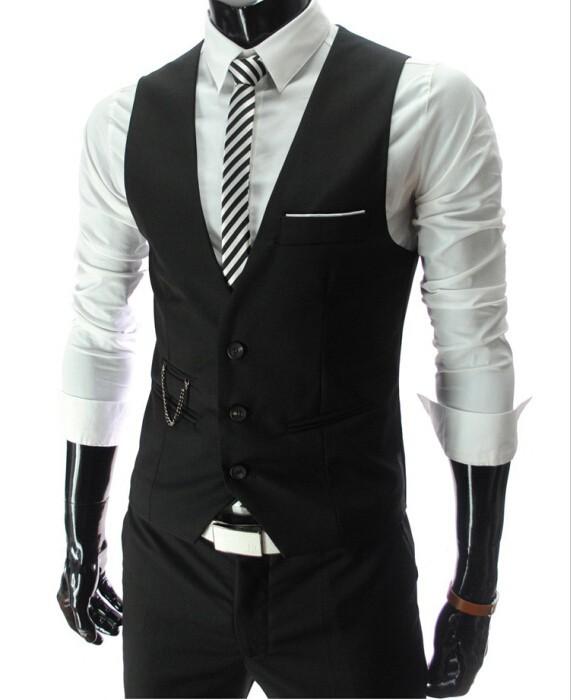 2019 New Arrival Dress Vests For Men Slim Fit Mens Suit Vest Male Waistcoat Gilet Homme Casual Sleeveless Formal Business Jacket 6