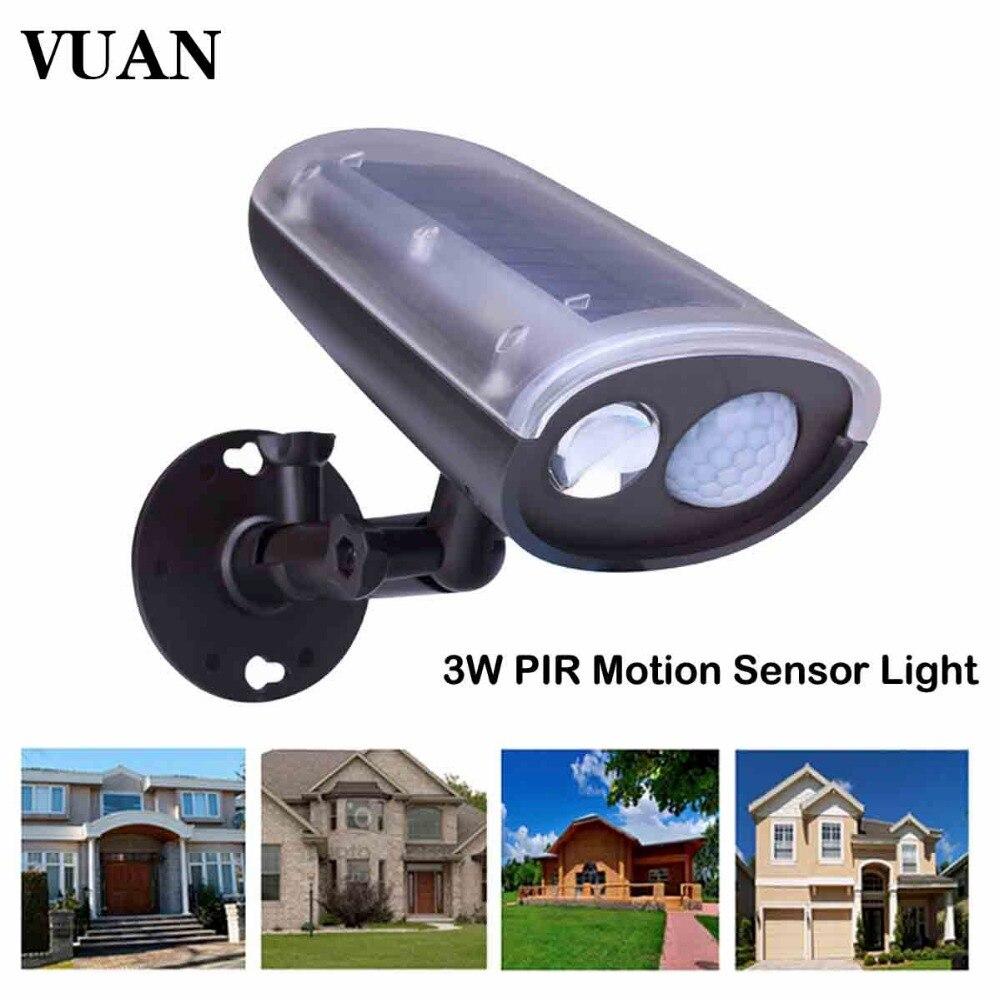 Outdoor Solar Powered Motion Sensor 3W LED Street <font><b>Light</b></font> Security Wall Spotlight Garage Door Spot <font><b>Light</b></font> Emergency Lamp