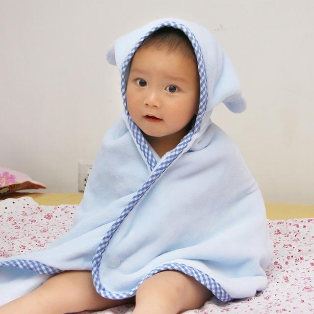 Flanela banho cobertor do bebê toalha de banho produtos de banho do bebê dos desenhos animados de capa 100 * 70 meninos e meninas 1 pcs