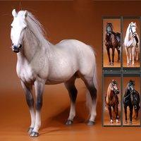 [ESTARTEK] MR. Z животных серии № 17 001 ~ 005 1/6 пособия по немецкому языку Hanoverian Warmblood лошадь с жгут реквизит для 12 фигурку DIY