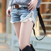 Aliexpress горячая стиль Sexy MS Haroun джинсы шорты Летние большой ярдов кружева шить новые развивать нравственность штаны