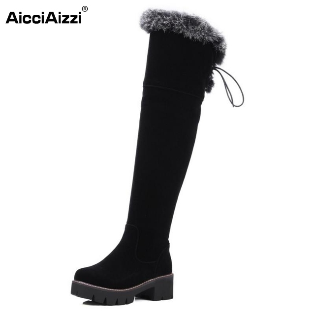 b0fa0b295ad Shoes Women New Over The Knee Thigh High Boots Women Motorcycle Flats Long  Botas Low Heel Seude Leather Shoes Size 34-43