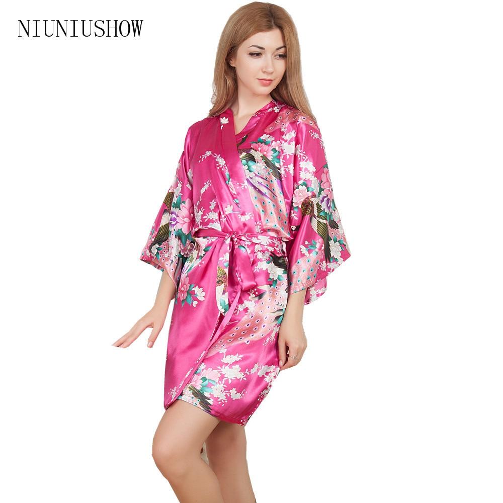 Nueva boda La dama Bañeras robe corto kimono de noche Bañeras ...