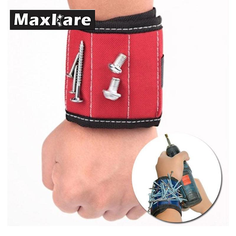 13.8 Wrist Support Band Tool Belt Bracelet Screw Kit Magnetic Wristband trainers fitness strong Chuck wrist massager