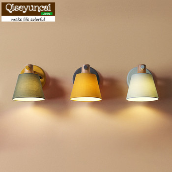 Qiseyuncai скандинавские простые современные креативные для учебы гостиная теплая прикроватная тумбочка для спальни Макарон конфетная настенн...