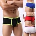 men 's fashion underwear bright color modal fabric breathable boxer comfort soft  underpants for men