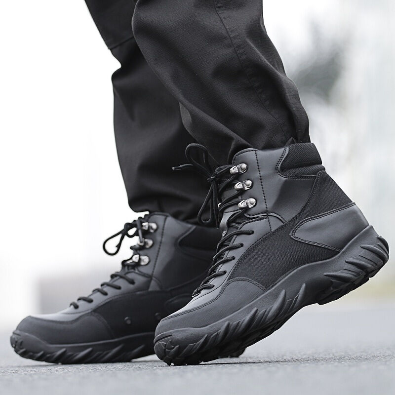 Outdoor Men Hiking Shoes Tactical Boots Black Winter shoes Mountain  Military Outdoor Mens Combat Hiking Boots Sapato Masculino