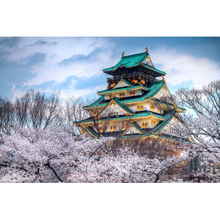 Full Square Drill 5D DIY cherry blossom season in Japan diamond painting Cross Stitch 3D Embroidery Kits home decor H112