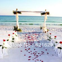 Romantic beach wedding 8'x8′ CP Computer-painted Scenic Photography Background Photo Studio Backdrop DT-11-267