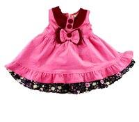 1-5 T 100% Bawełna Dzieci Dziewczynek Ubrania Vestido Infantil Wigilii Vêtement Princess Dress Tutu Fille Navidad różowy Zima