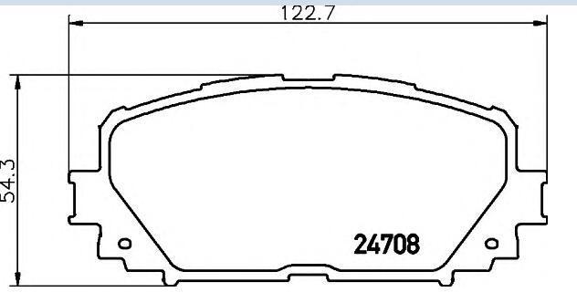 04465-52270 тормозные колодки для TOYOTA CHARADE/YARIS