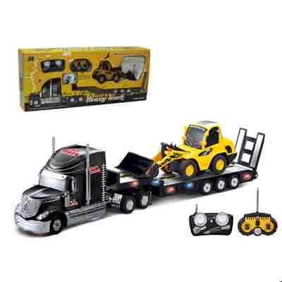 2PCS /Set Big Remote Control Car+RC Excavator Detachable Kids Electric Big Rc Car Trailer Remote Control Wireless Truck Car Toy  remote control 1 32 detachable rc trailer truck toy with light and sounds car